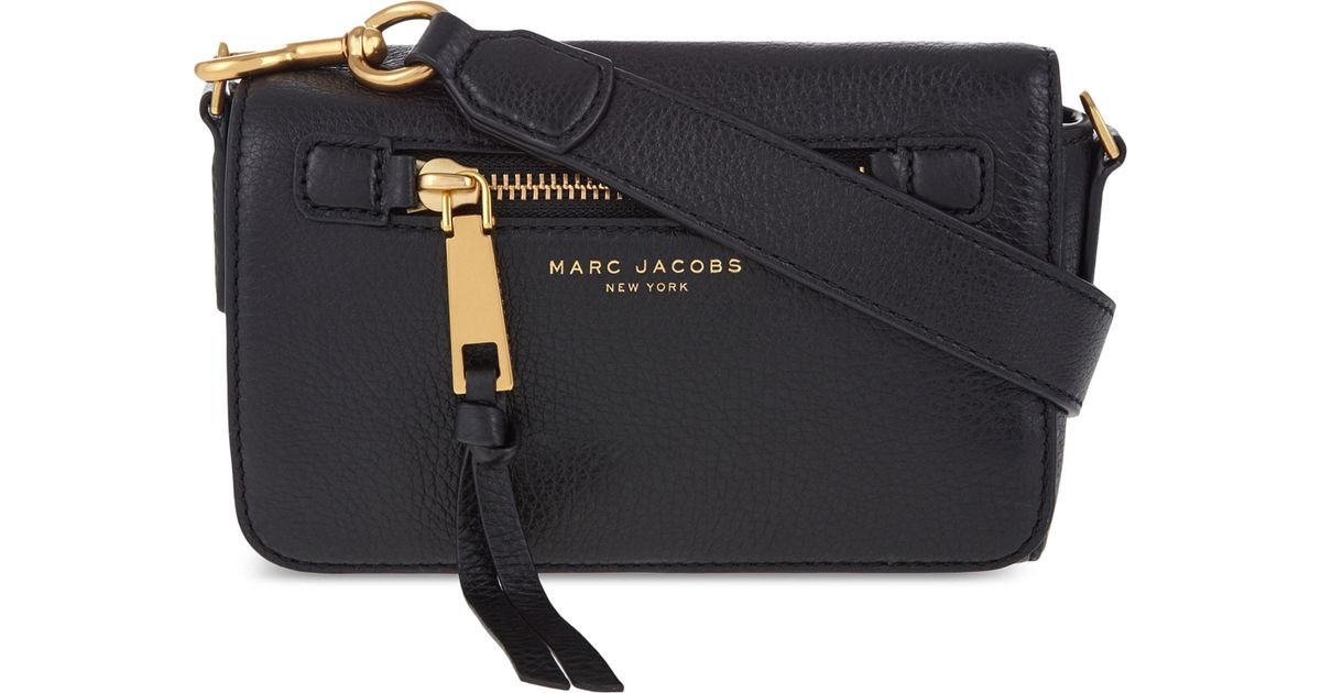 858d05eab1f1 Lyst - Marc Jacobs Recruit Leather Cross-body Bag in Black