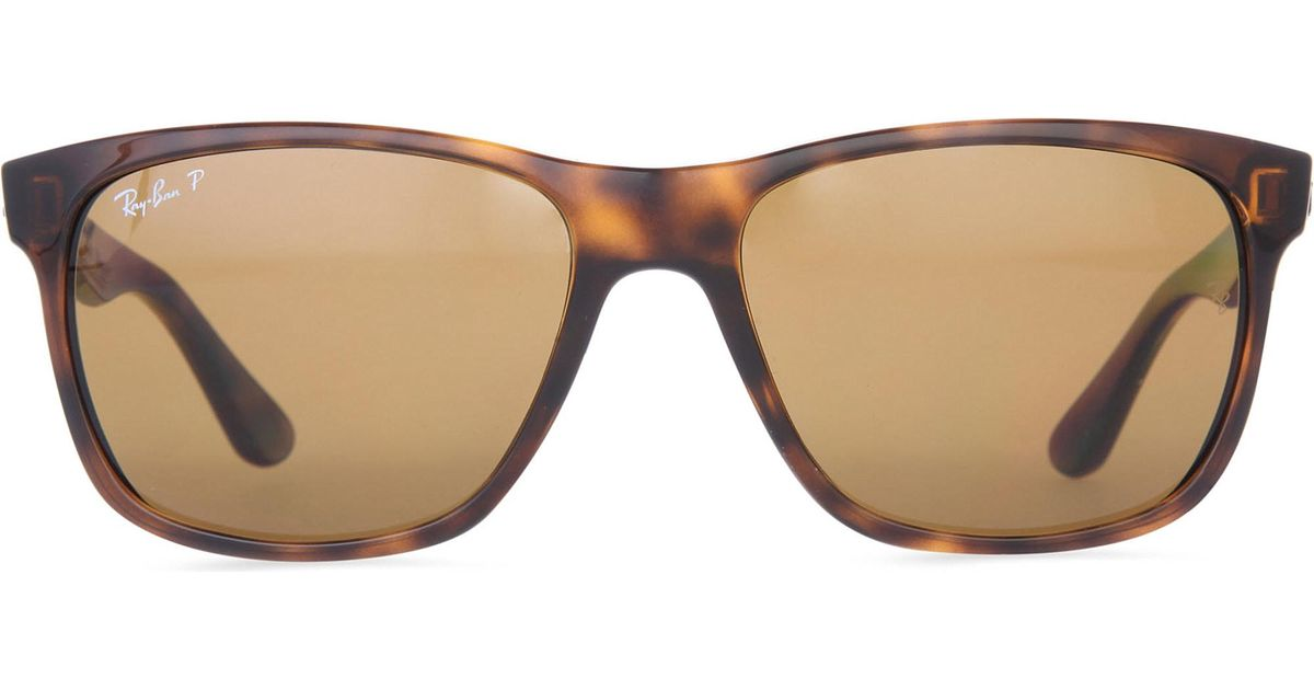 ba43d1c9868 Lyst - Ray-Ban Light Havana Square-frame Sunglasses With Brown Gradient  Lenses Rb4181 57 in Brown - Save 1%