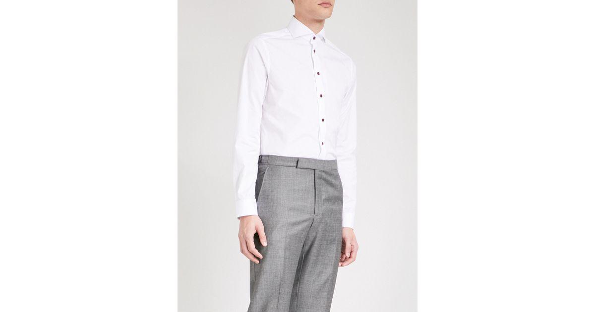 Lyst Eton Of Sweden Super Slim Fit Cotton Poplin Shirt