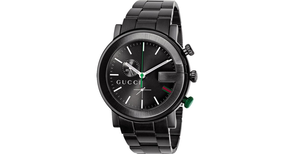 615d4f0fe80 Lyst - Gucci Ya101331 G-chrono Collection Pvd And Stainless Steel Watch in  Black for Men