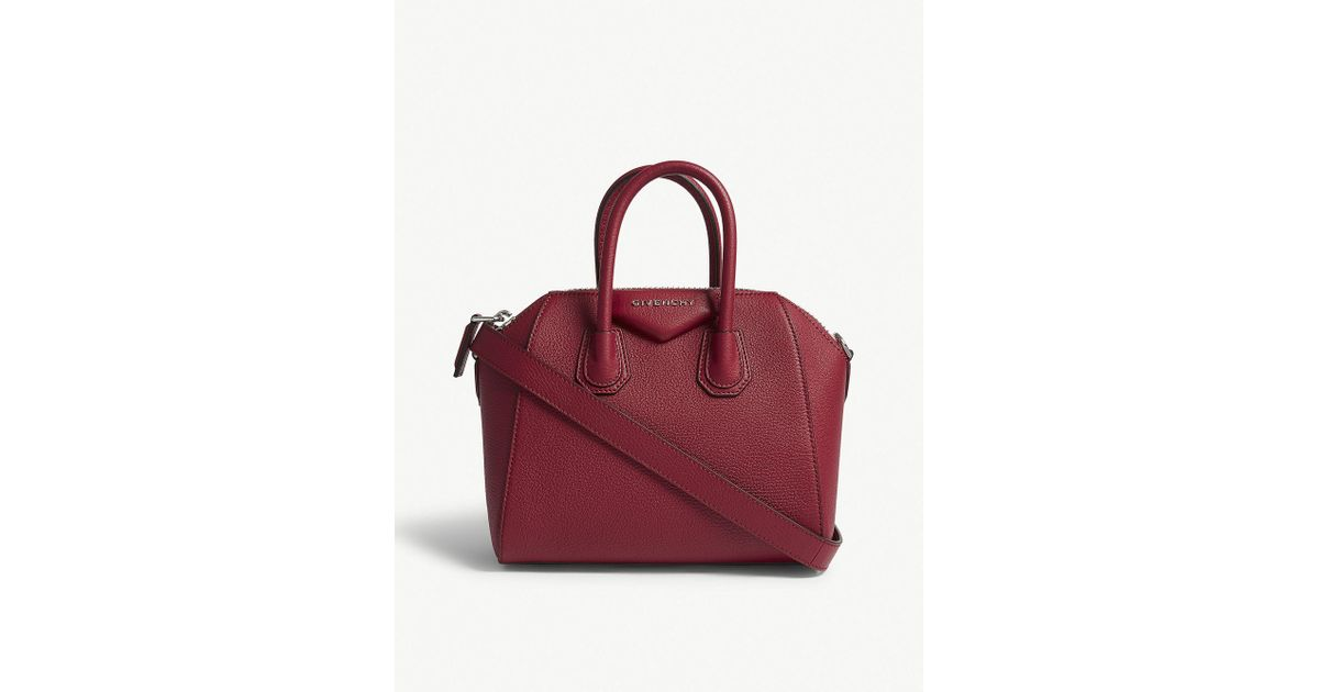 5b930814ea Lyst - Givenchy Fig Pink Antigona Mini Sugar Leather Tote Bag in Red