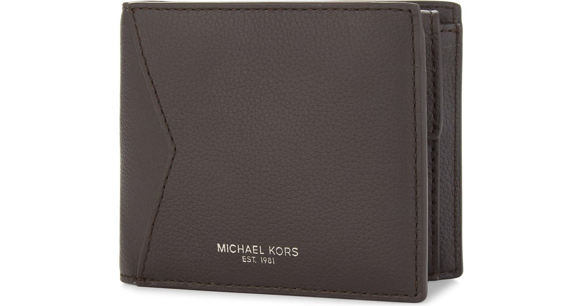 1802a6d21a96e Lyst - Michael Kors Bryant Leather Billfold Wallet in Brown for Men