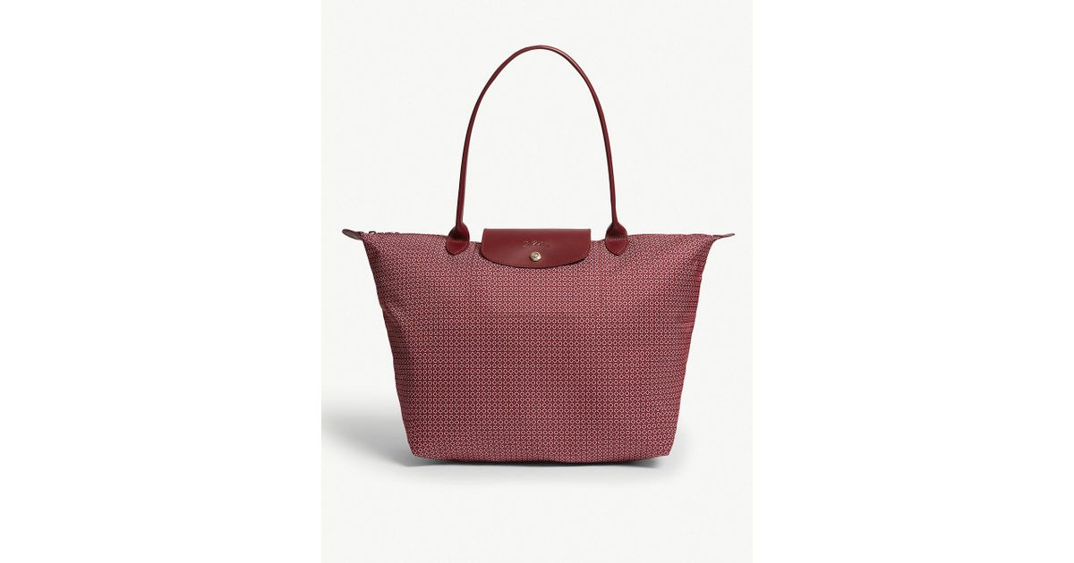 5394f9eda3b5 Longchamp Le Pliage Dandy Tote in Red - Lyst