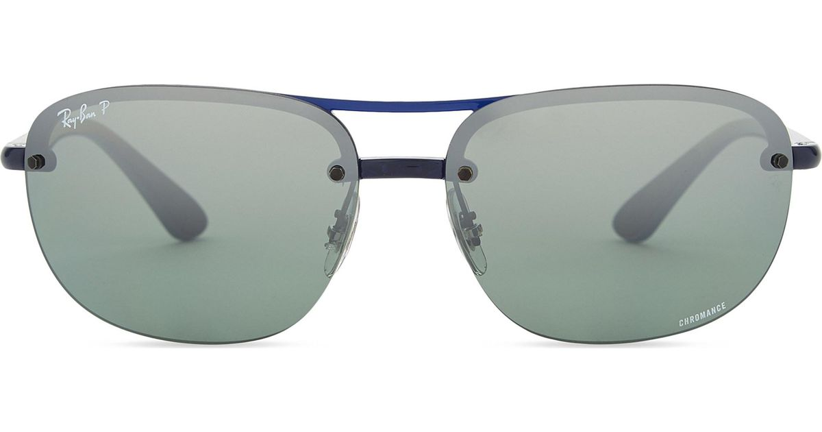 0b1f90497ff926 ... Ray-Ban Rb4275ch Chromance® Square-frame Sunglasses in Blue for Men -  Lyst . ...