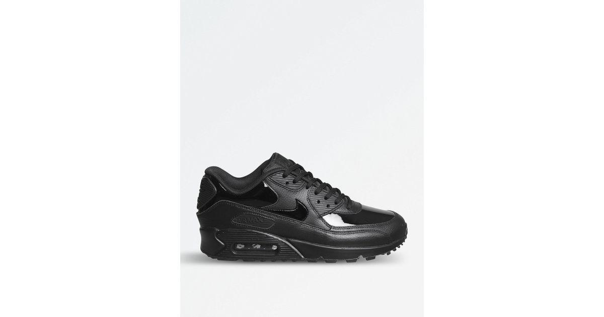 black leather air max 90