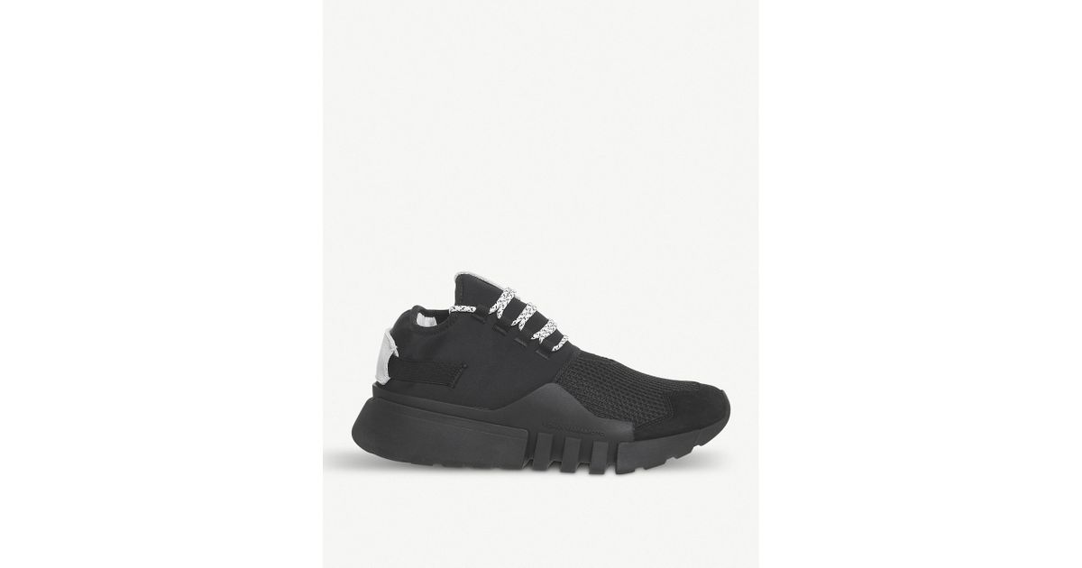 47466f195 Lyst - Y-3 Y3 Ayero Leather And Mesh Trainers in Black for Men