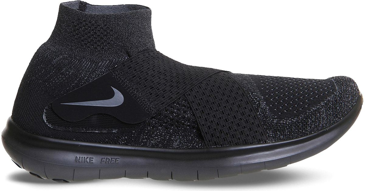 0fc8cd057a80 Lyst - Nike Free Run Motion Flyknit Trainers in Black for Men