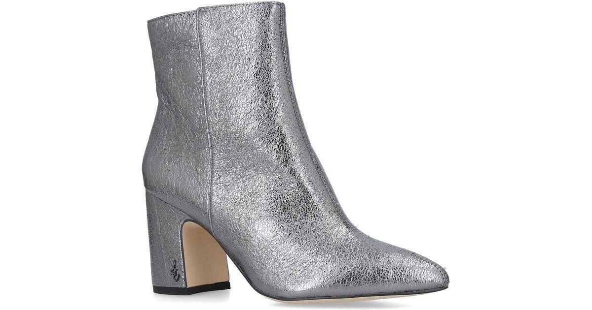 efecd0f2466cc9 Sam Edelman Hilty Ankle Boot in Gray - Lyst