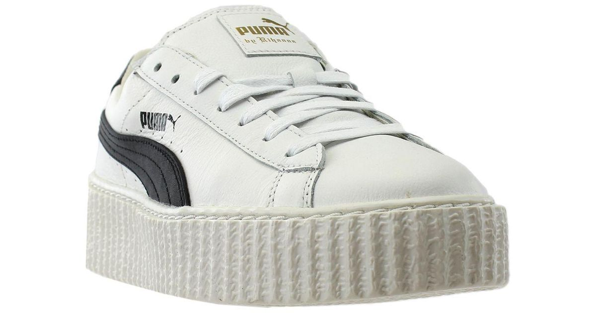 Lyst - PUMA X Fenty Creeper White Leather X Fenty Creeper White Leather in  White 5663761c5fa1
