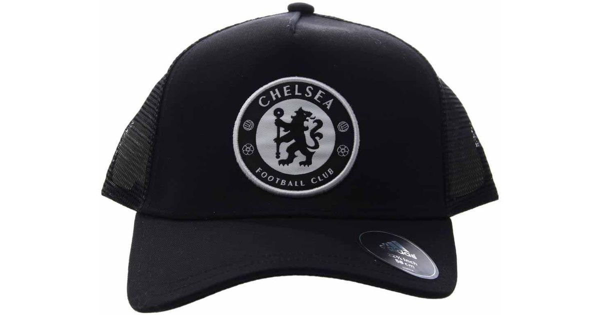 Lyst - adidas Chelsea Fc Trucker Cap in Black for Men 74c76e4f0c7