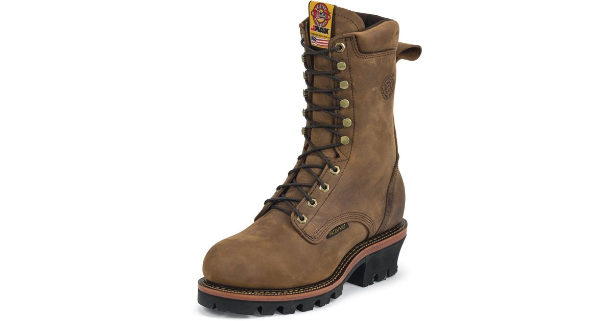 3dfb183c327 Justin Boots - Brown Casement Aged Bark Wp St for Men - Lyst