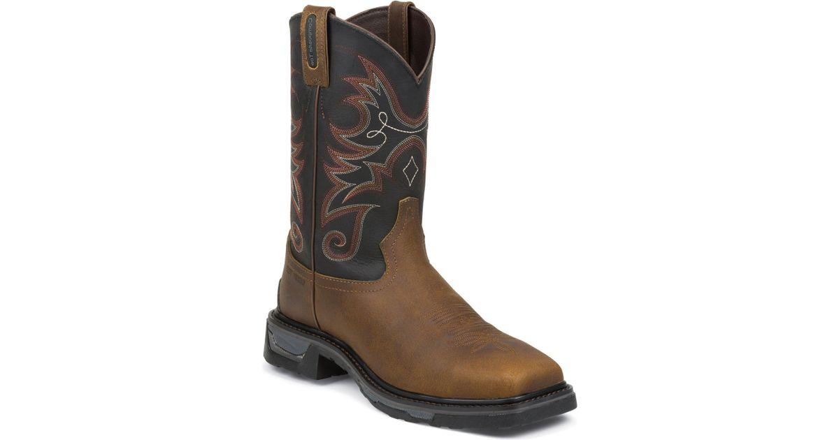 fa49e95e852 Tony Lama Boots - Brown Diboll Comp Toe for Men - Lyst