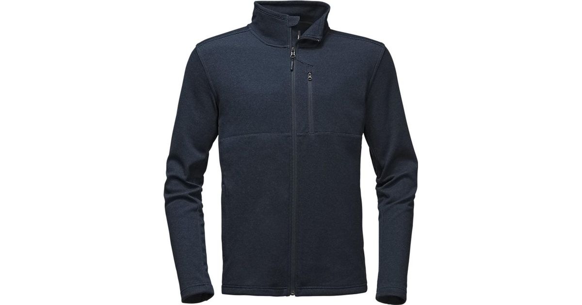 Lyst - The North Face Bi-stretch Twill Full Zip Jacket in Blue for Men 35df7787d