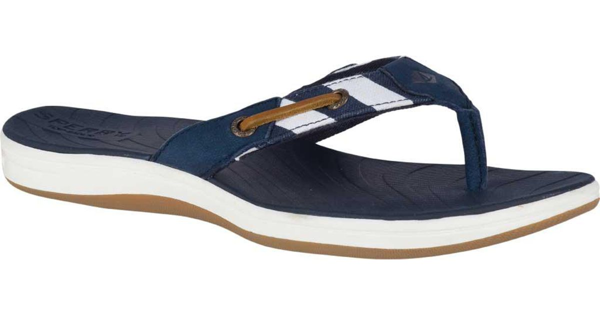 320a23f9388215 Lyst - Sperry Top-Sider Seabrook Surf Thong in Blue