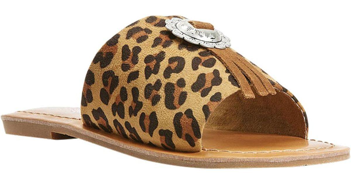 c355fc2dba57 Lyst - Ariat Unbridled Ellie (leopard Suede) Women s Sandals in Brown -  Save 8%