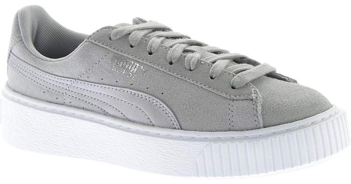 28dae2b5cf8447 Lyst - PUMA Suede Platform Safari Sneaker in Gray