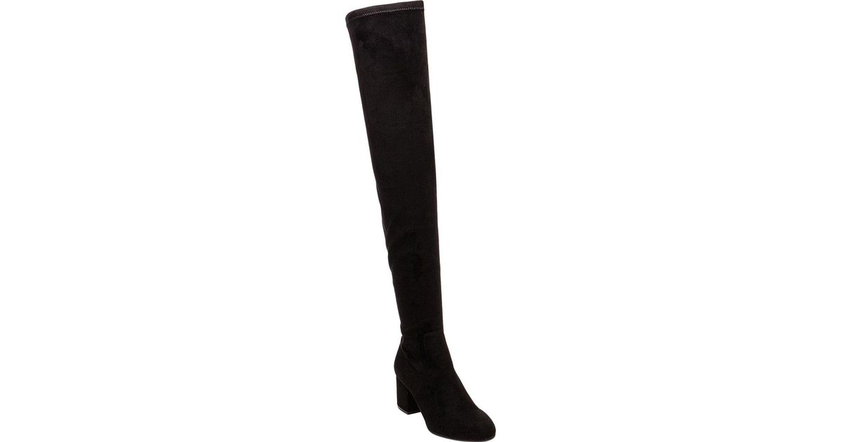 a93758b896b Lyst - Steve Madden Isaac Over-the-knee Boot in Black