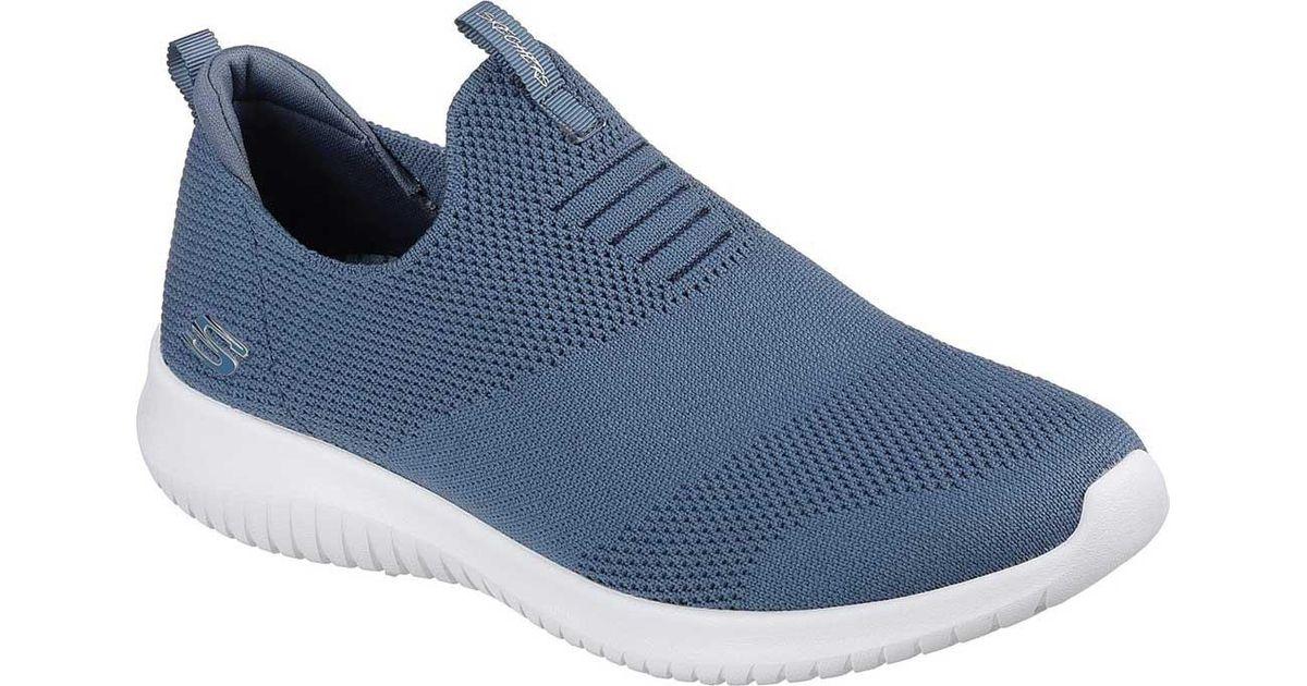 2c2c95b159e Lyst - Skechers Ultra Flex First Take Slip-on Sneaker in Blue skechers  ultra flex