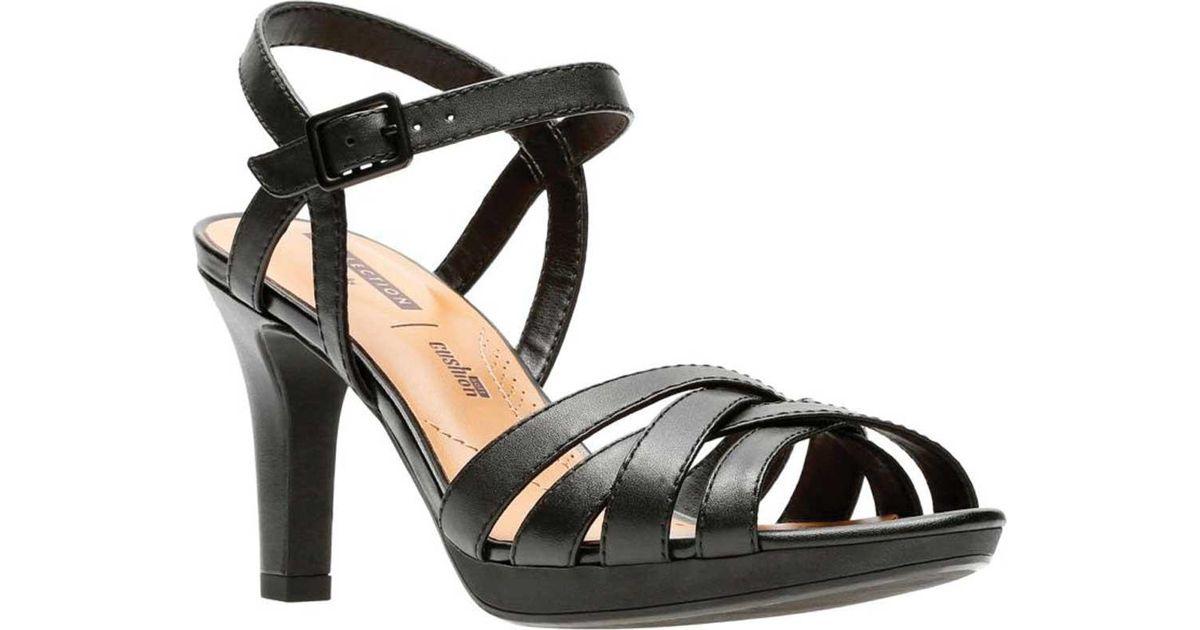 b7b30b071a4 Lyst - Clarks Adriel Wavy Heeled Sandal in Black - Save 26%