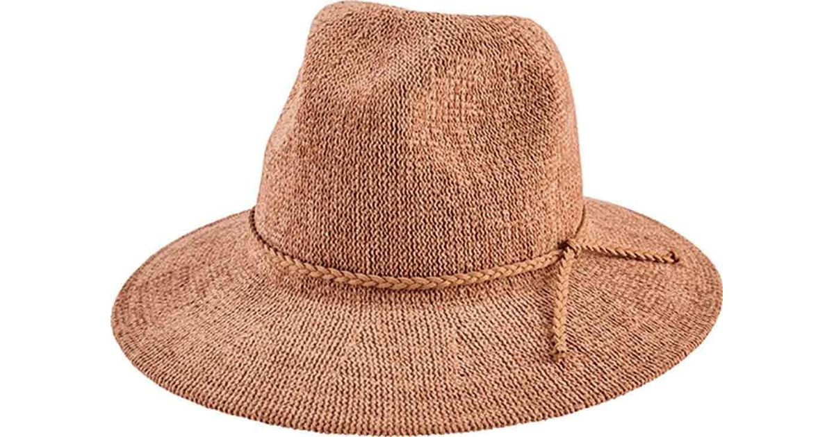 2fd98e1d1c861 Lyst - San Diego Hat Company Knit Fedora With Braided Faux Suede Trim  Cth8078