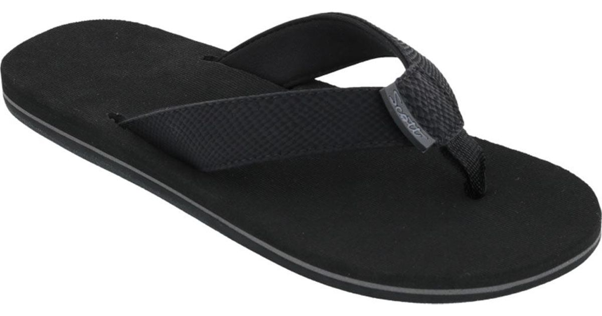 0b70ee6e4b14 Lyst - Scott Hawaii Kaila Flip Flop in Black for Men