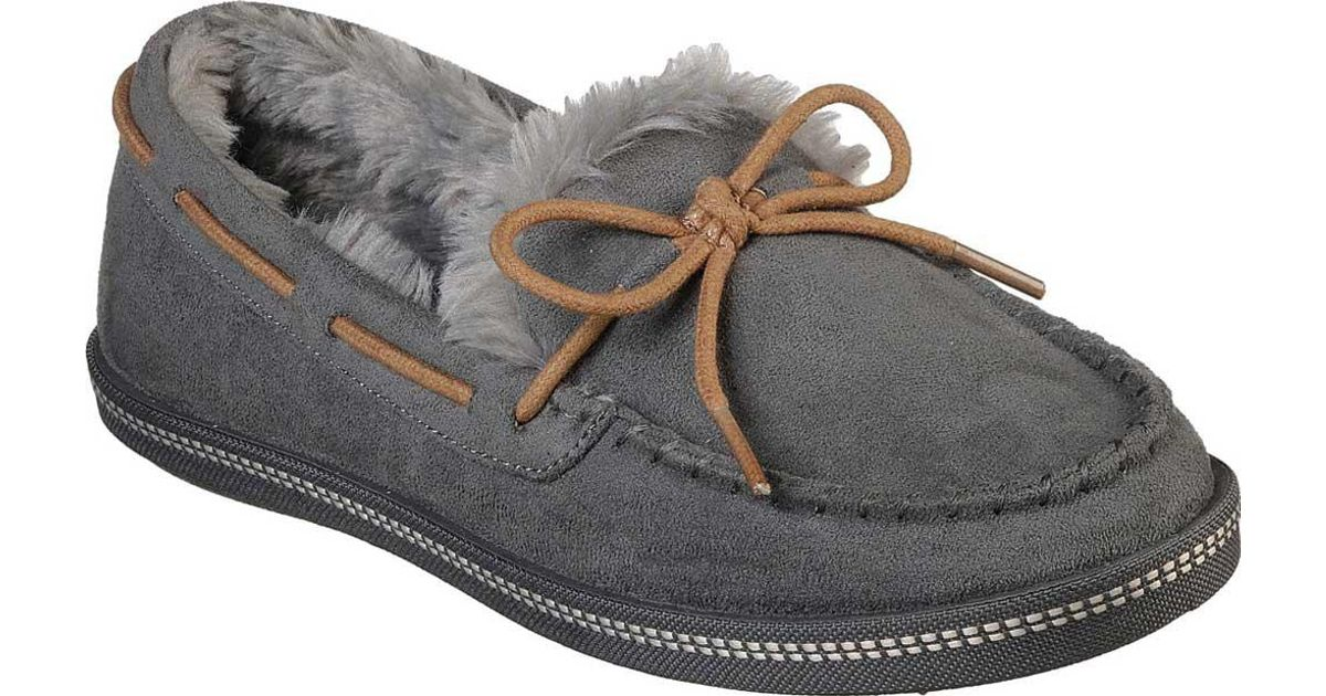 89c7ab85ee6 Lyst - Skechers Cozy Campfire Toasty Ties Moccasin in Gray