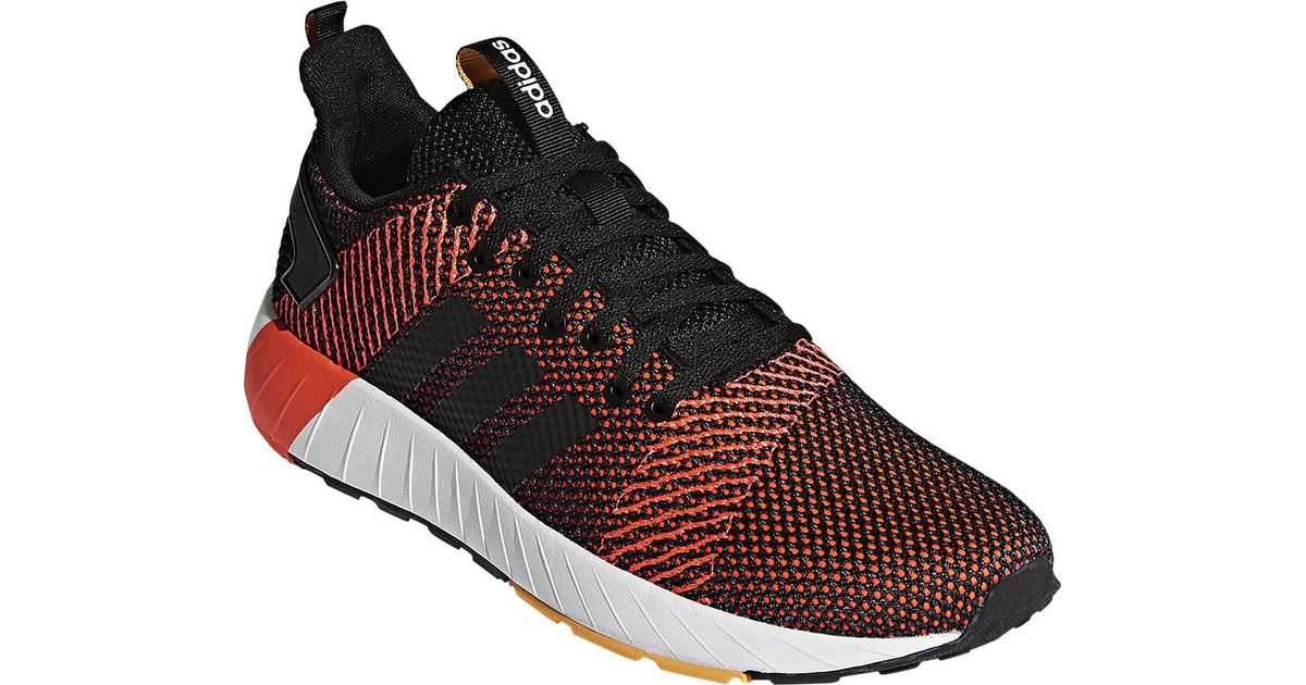 adidas Questar Byd Sneaker (Men's) - Core Black/Core Black/Solar Red - NEW -