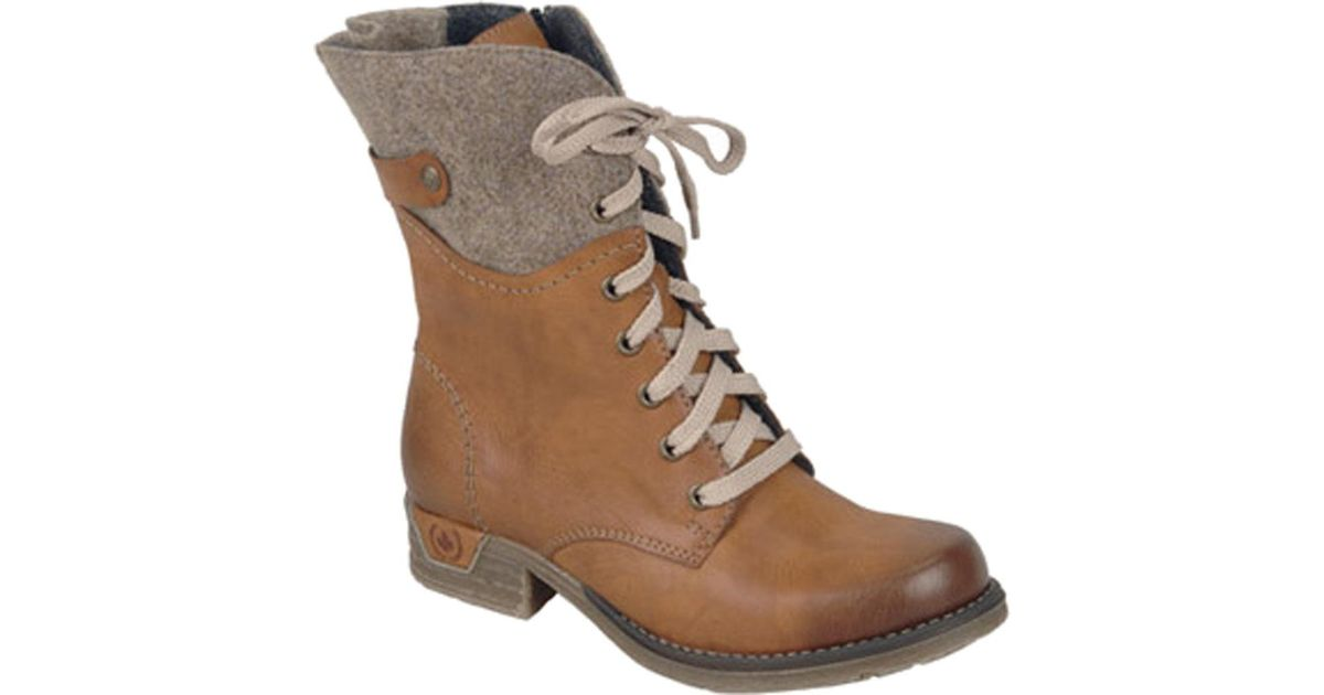Rieker-Antistress Dominika 78 Mid Calf Boot(Women's) -Cigar/Moro Synthetic/Textile Discount Finishline pIEAKsf