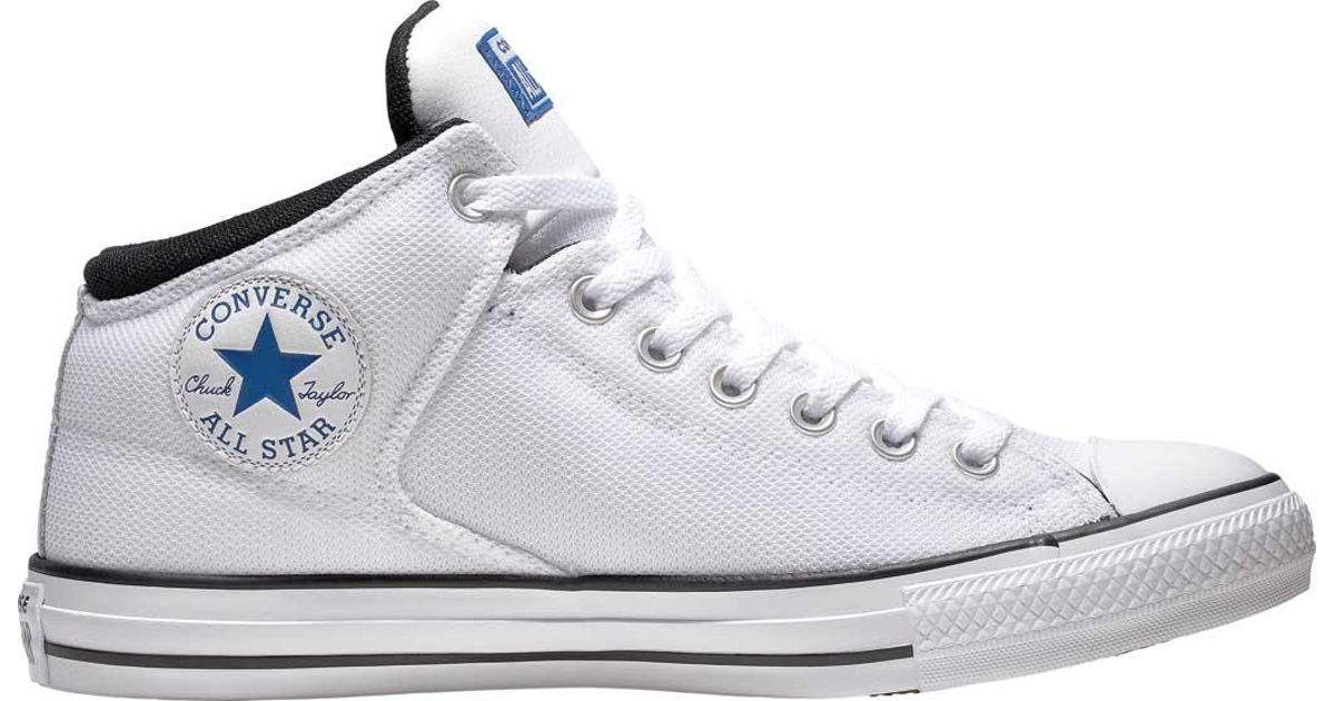 26bc7a5fa26f Lyst - Converse Chuck Taylor All Star High Street Uniform Mid in White for  Men