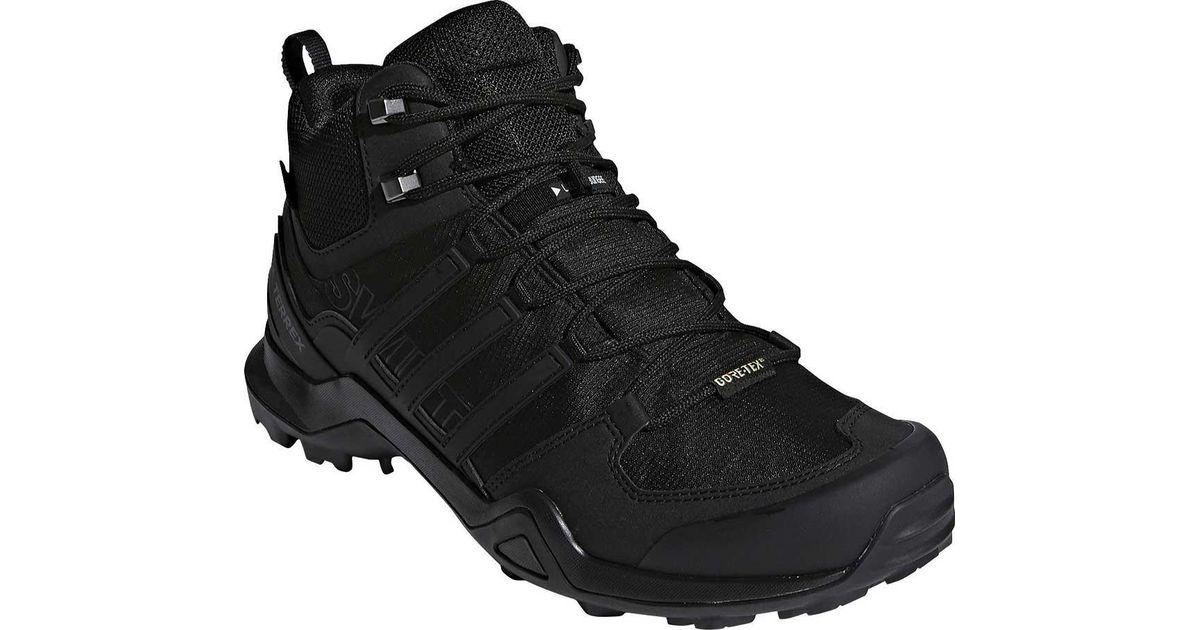lyst adidas terrex swift r2 metà gore - tex scarpa in nero per gli uomini.