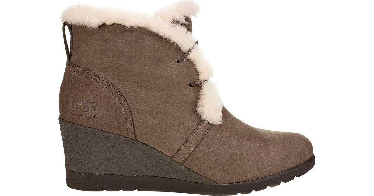 6cf3516d0af9 Lyst - UGG Jeovana Wedge Ankle Boot in Brown