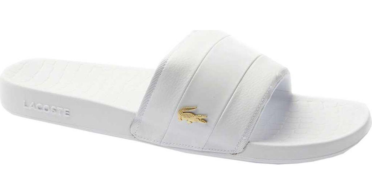 a891f0ac2 Lyst - Lacoste Frasier Slide Sandal in White for Men