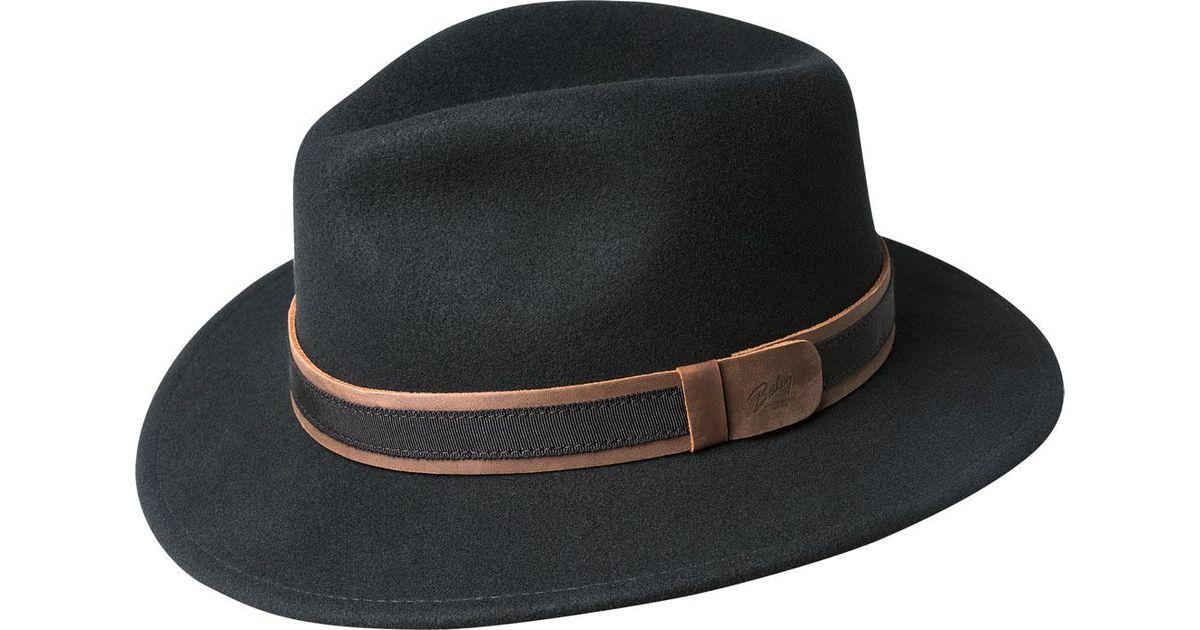5f22ef3dd Lyst - Bailey of Hollywood Gandy Fedora 70616 in Black for Men