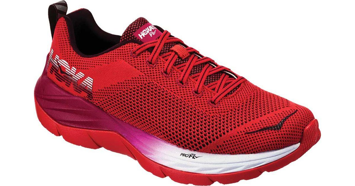 45411a70912c Lyst - Hoka One One Mach Running Shoe in Red