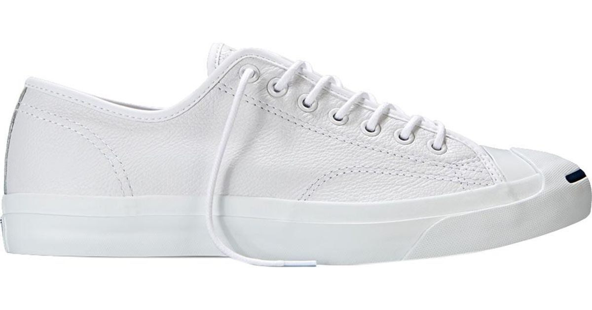 0a169783d7c Lyst - Converse Jack Purcell Tumbled Leather Ox Sneaker in White for Men