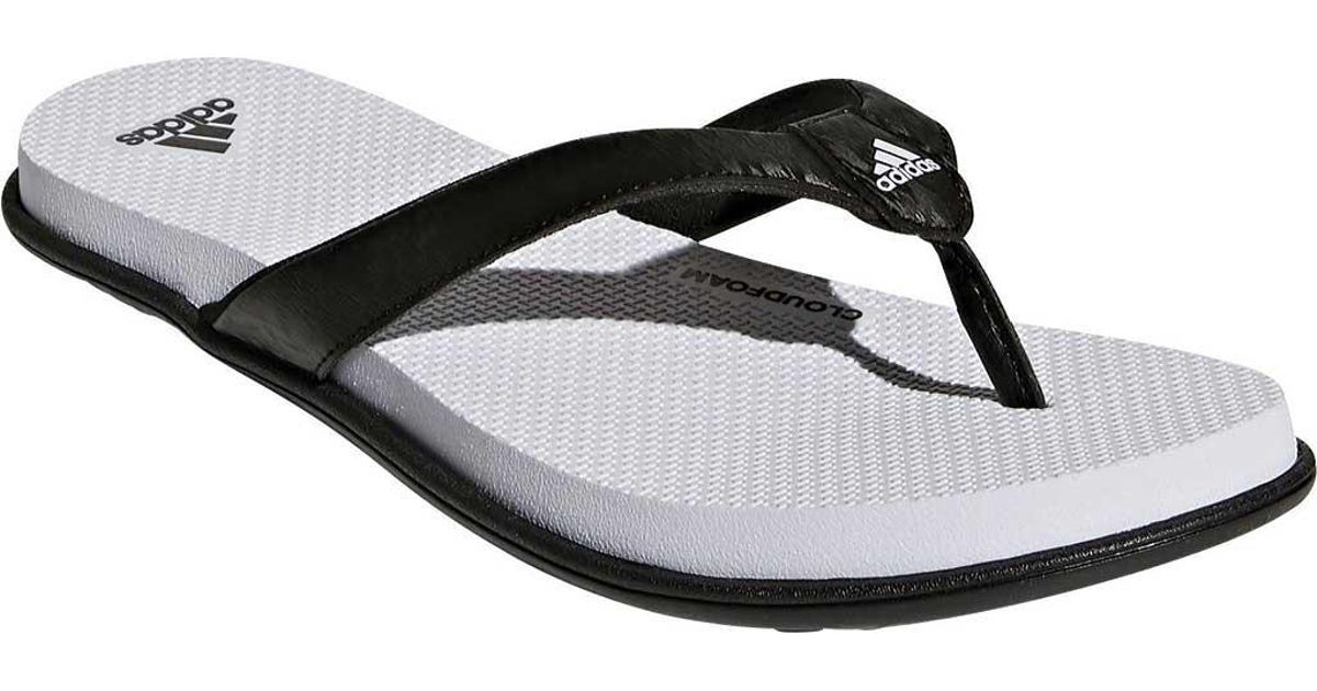a8759a11fcb4 Lyst - adidas Cloudfoam One Y Thong Sandal in Black