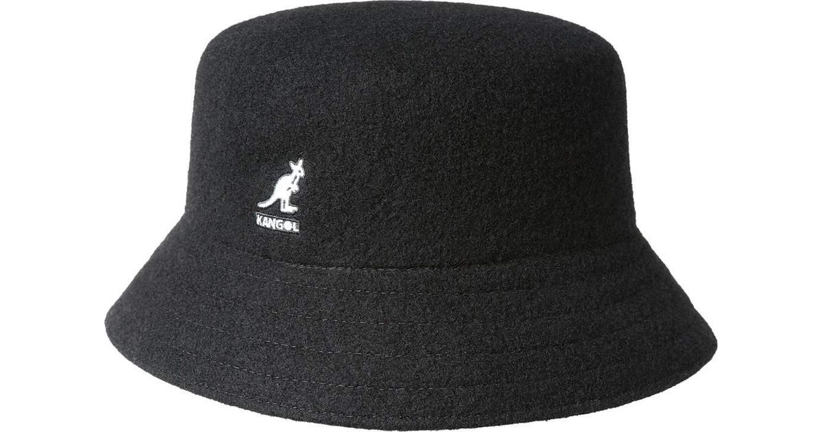 b506f51d90150 Kangol Wool Lahinch Bucket Hat in Black for Men - Save 14% - Lyst