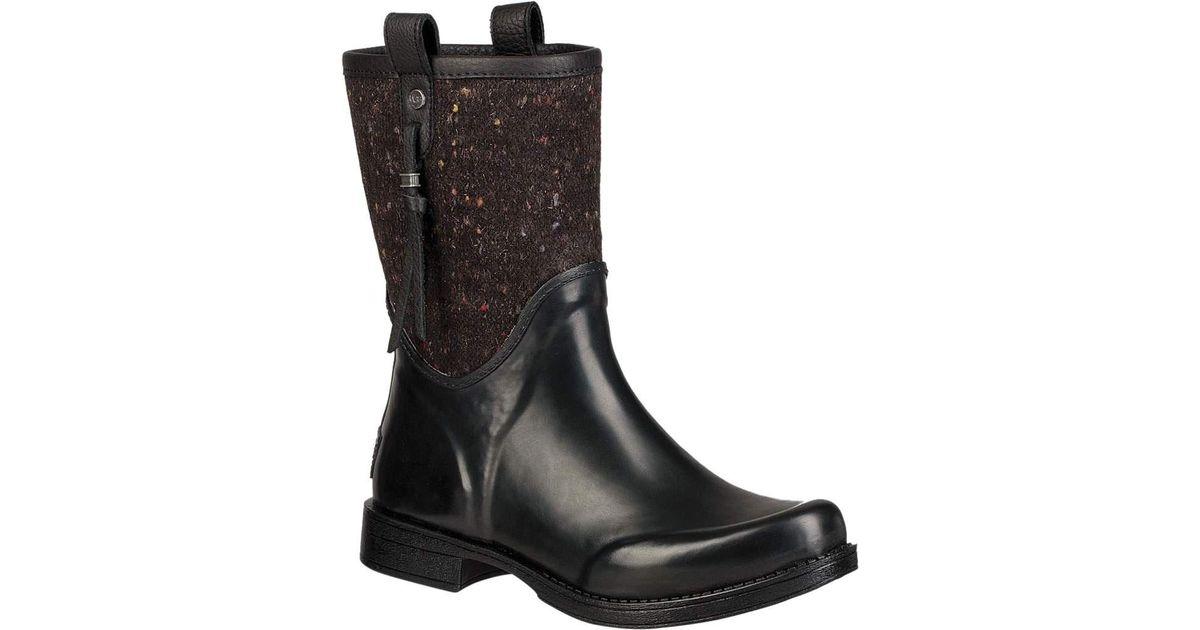 97b1a073a2b ... low price lyst ugg stephanson rain boot in black 31860 727d4