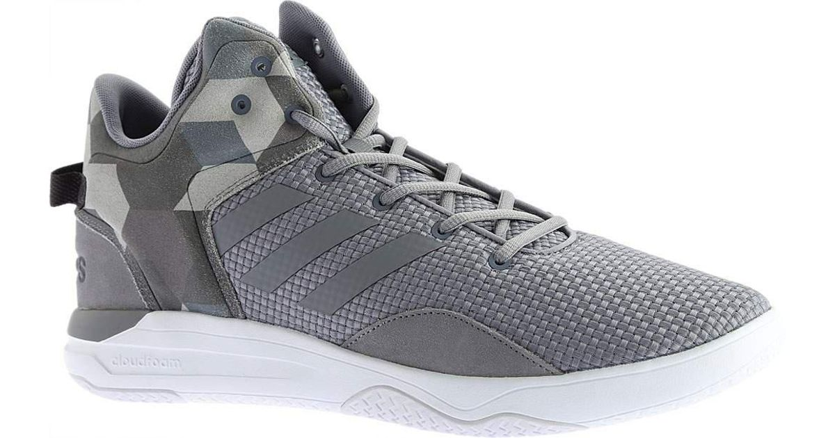 ab2a079c835 Lyst - adidas Neo Cloudfoam Revival Mid Basketball Shoe in Gray for Men