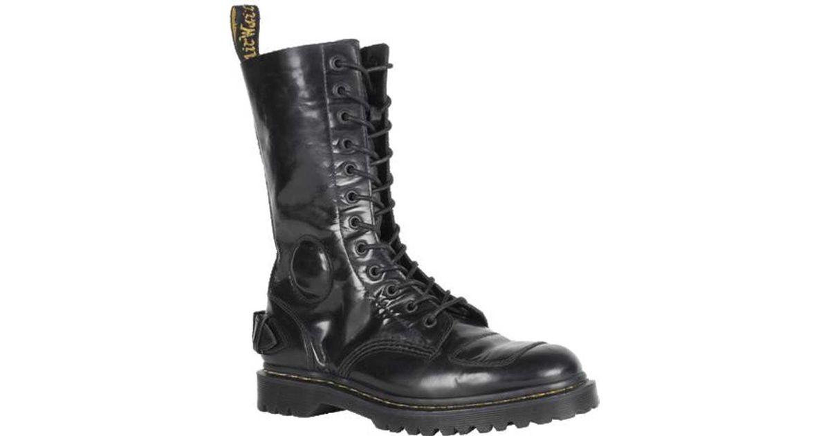 Lyst - Dr. Martens Neilson 12-eye Biker Boot in Black for Men 36459b015188