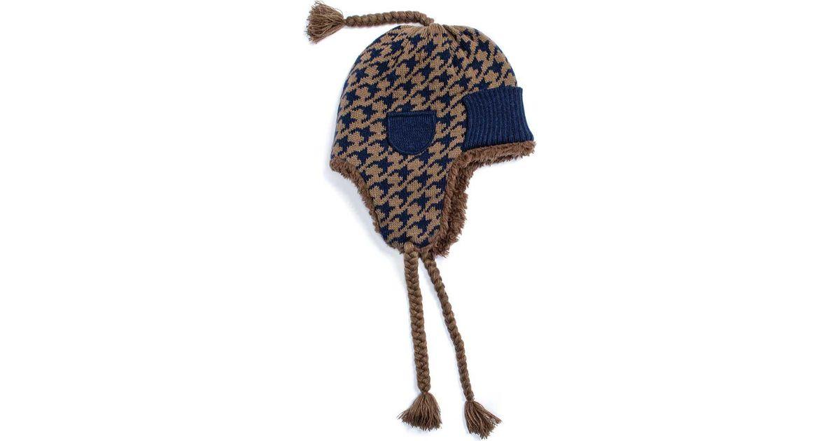 5b1f513c3b6 Lyst - Muk Luks Cuffed Trapper Hat in Blue for Men