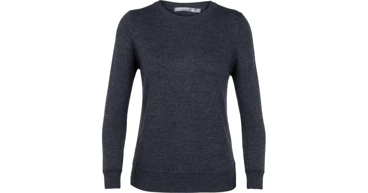 429687aa218 Icebreaker Blue Muster Crewe Sweater