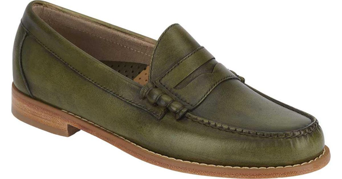f937a583aeb Lyst - G.H.BASS Larson Weejuns Penny Loafer in Green for Men