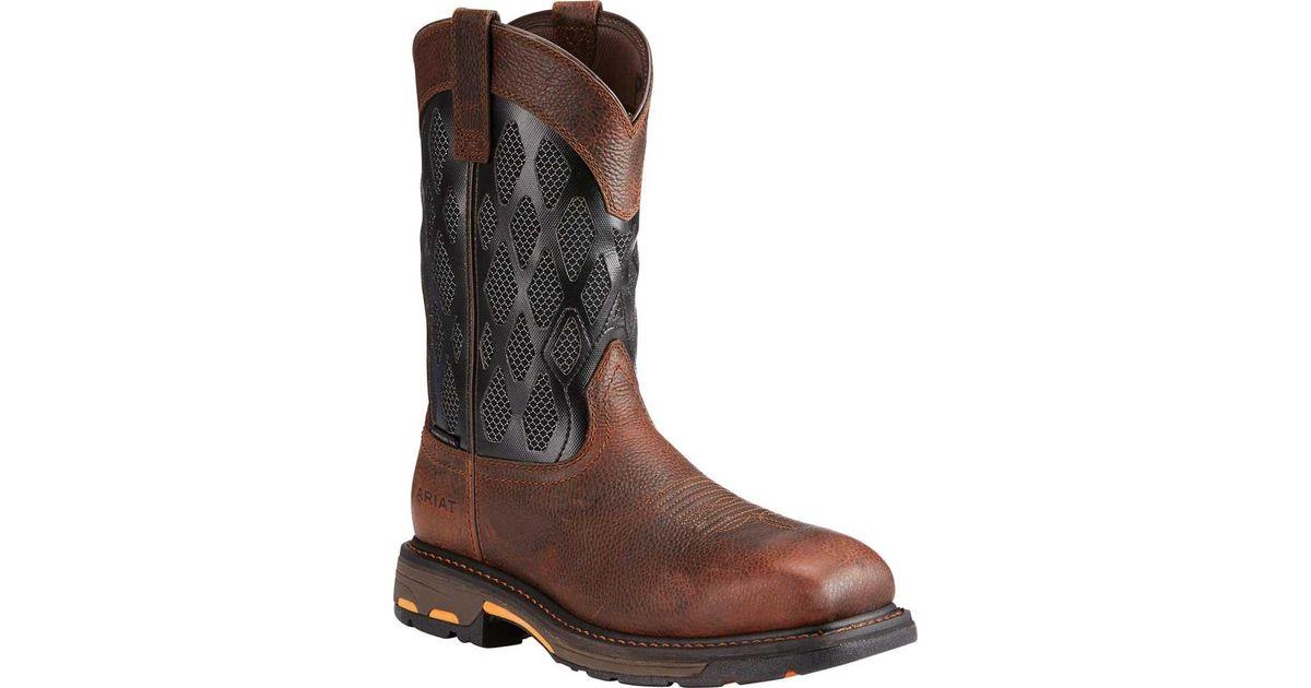 29e16f9bc3e Ariat - Brown Workhog Venttek Matrix Composite Toe Work Boot for Men - Lyst