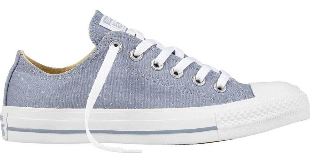 82c67f6eade1 Lyst - Converse Chuck Taylor All Star Ox Perf Low Sneaker in White