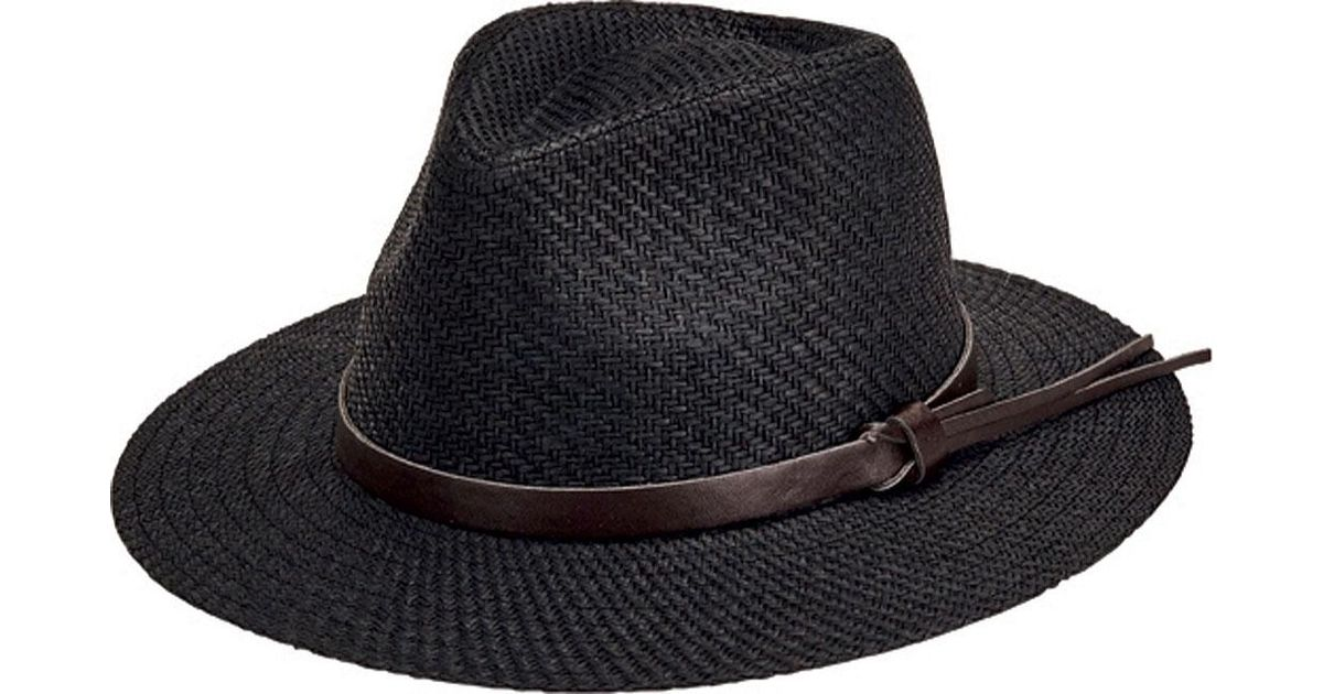 eba905d9fc0 Lyst - San Diego Hat Company Faux Leather Band Cut And Sew Paper Fedora  Cth3561 in Black for Men