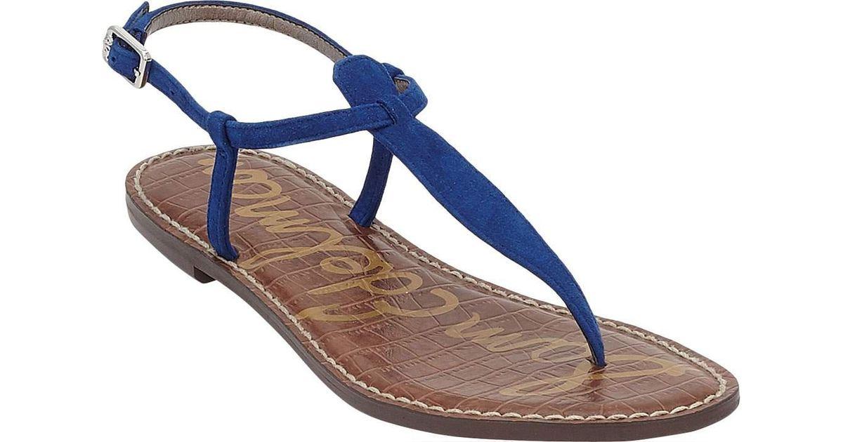 4bbbd250f Lyst - Sam Edelman Gigi Thong Sandal in Blue