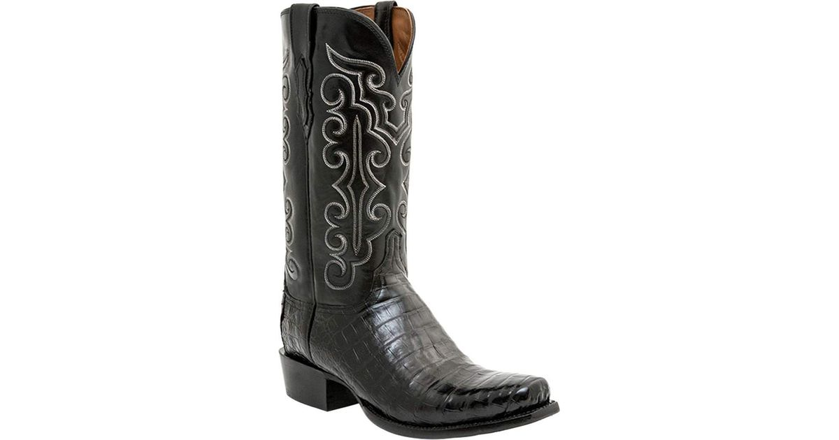 f54bbc75e99 Lucchese Bootmaker - Black Cl7772.73 Toe Cowboy Boot for Men - Lyst