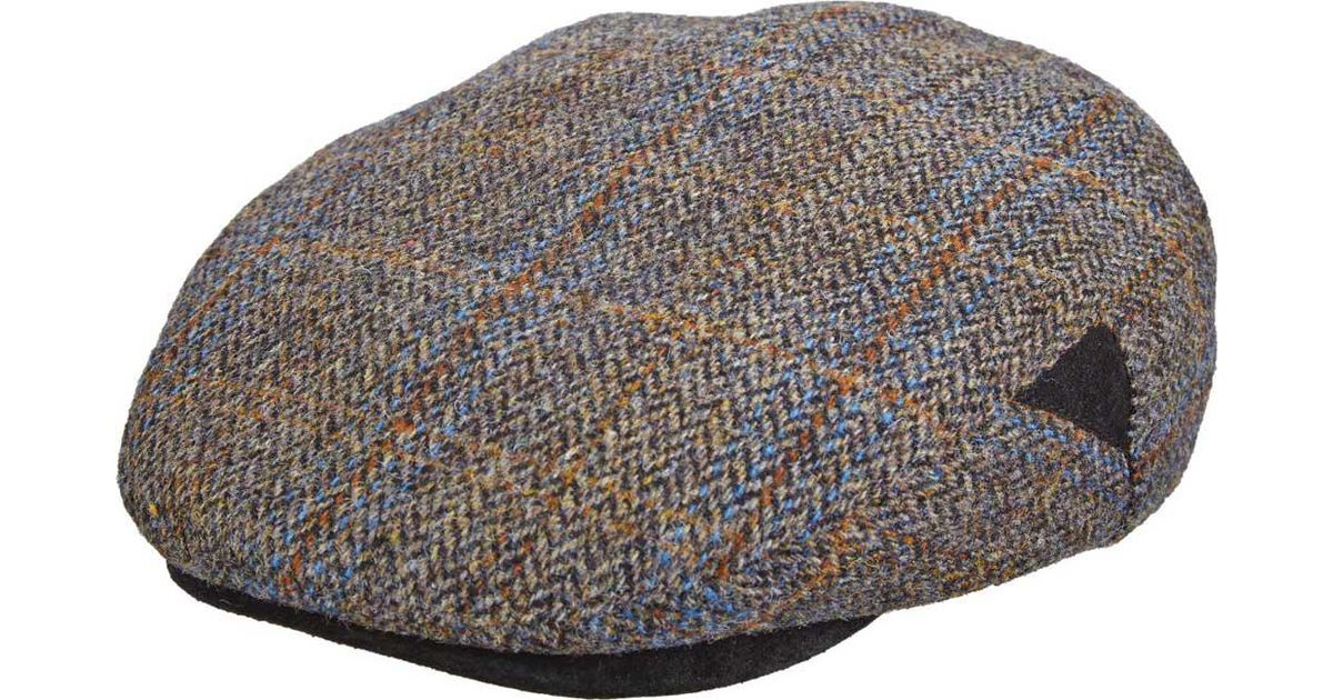 fd7a64ce3940d Lyst - Stetson Stw281 Harris Tweed Flat Cap in Gray for Men
