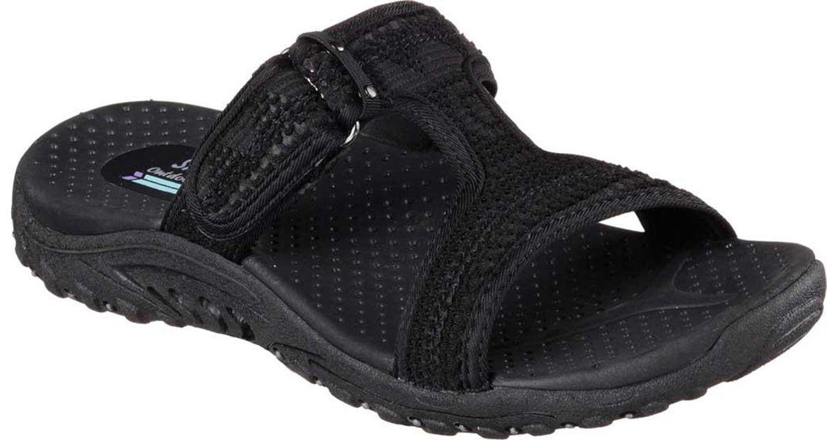 00336eb941a0 Lyst - Skechers Reggae Desert Escape Slide Sandal in Black